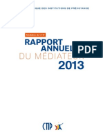 Rapport Mediateur 2013
