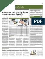 Ganancias de Cajas Siguieron Disminuyendo en Mayo_Gestión 8-07-2014