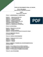 Esquema Del Codigo de Procedimiento Penal Ley 901