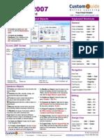 Access 2007 Cheat Sheet