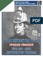 Fire Instructor I II UPGRADE Cert Manual2