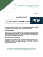 Avis AUT - Tramway T9 Enquête Publique - 5 Juillet 2014