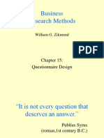 Questionnaire Design Ppt