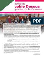 Lettre de Sophie Dessus, députée de la Corrèze