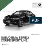 Ficha Tecnica BMW 220iA Coupe Sport Line Automatico 2015