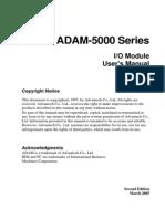 ADAM-5000 IO Module User Manual 2nd Edition