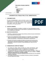 Trabajo Final (TF) Administración I 2014-I