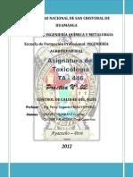 Informe # 02 - Toxicología