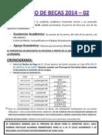 Cronograma Becas 2014-2