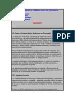 Clases y Unidades de Las Mediciones en Topografia