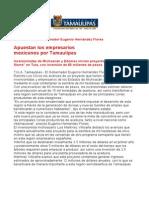 com0788, 260606 Apuestan los empresarios mexicanos por Tamaulipas.