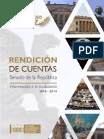 Rendición de Cuentas Senado de la República 2010-2014