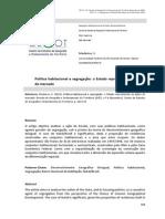 Política Habitacional e Segregação_ o Estado Reproduzindo as Ações Do Mercado