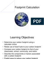 Lab 11 - Carbon Footprint Calculation