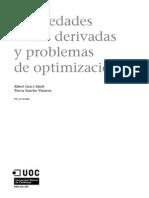 Propiedades de Las Derivadas y Problemas de Optimizacion M5