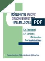 Power Consumption in Ball Mills & Ball Mills Scaleup (Sizing)-Tsakalakis k.g. (Ntua)