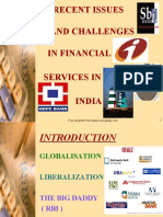 Issues and Challenges in Financial Services in India