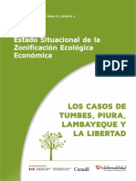 Estado Situacional de la Zonificación Ecológica Ecnonómica en los gobiernos regionales de Tumbes, Piura, Lambayeque y La Libertad