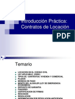 Introduccion Practica en Los Contratos de Locacion SL