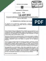 Decreto 738_2014 Servidumbre