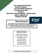 Douglas County School Board Meeting July 8 Agenda