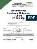 Proc. Limpieza y Pintura Tuberia EC PCD 036