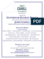 John Cahill Event at the Albany Barge