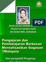 GC Pengajaran Dan Pembelajaran Berkesan Merealisasikan Gagasan 1Malaysia