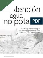 Agua Potable y No Potable en Ciudades de España