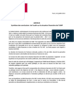 NR Audit Financier ADVOLIS 8 Juillet 2014