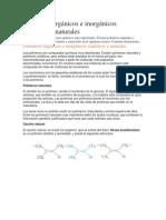 Polímeros Orgánicos e Inorgánicos Sintéticos y Naturales