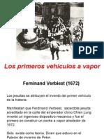 3 Los primeros vehículos a vapor