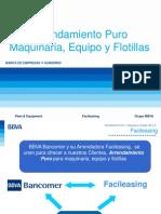 BBVA Arrendamiento Puro Maquinaria Equipo y Flotillas
