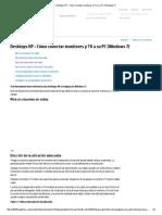 HP - Todos Los Conectores de Video Para PC (Windows7)