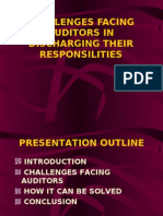 Presentation Audit Auditors Challenges