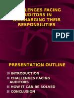 Presentation Audit Auditors Challenges