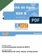 Presentation Du STIF Au Comite de Ligne Du RER B Du 8 Juillet 2014