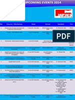 Upcoming Events MPWS 2014