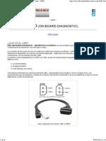 OBD - Diagnostico de a Bordo - Sistemas de Diagnosis - OBD2