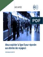 Presentation de La Direction de Ligne Unifiee DLU Au Comite de Ligne Du RER B Du 8 Juillet 2014