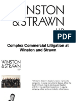 Complex Commercial Litigation at Winston and Strawn