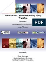 Optatec 2012 Accurate LED Source Modeling Using TracePro