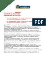 com0780, 200606 Eugenio Hernández le apuesta con todo al desarrollo científico y tecnológico.