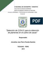 Coreccion ---Selección de CCN-51 Para La Obtención de Plantones en El Cultivo de Cacao