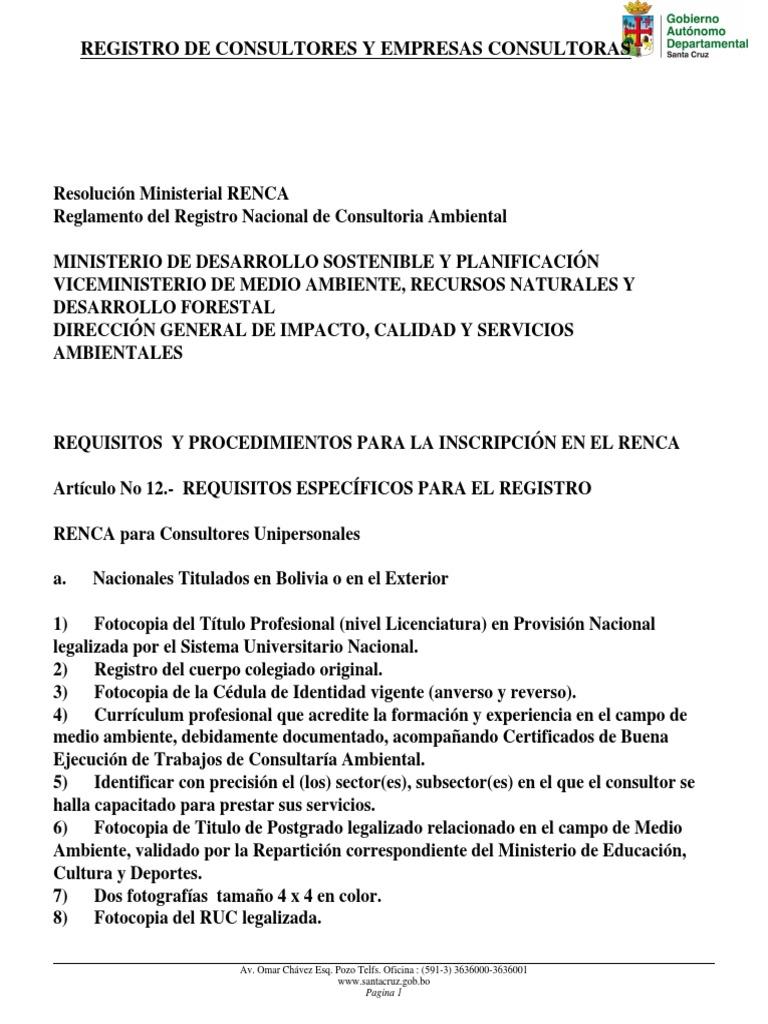Registro de Consultores y Empresas Consultoras
