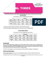 Arrival Times by Surname 2014