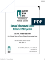 Damage Tolerance and Fatigue Behaviour of Composites