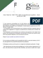 Livre de Pieces Pour La Guitarre 1686 Vm7-6219