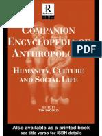 Enciclopedia de Antropologia - Tim Ingold