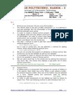Solution - Class Test 1 (AJP) 2008-2009